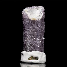 Unique Amethyst Covered Calcite Wand – Video Below