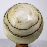 Large Banded Calcite Sphere