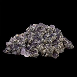 Bulgarian Pyrite and Chalcopyrite on Amethyst Cluster – Video Below!