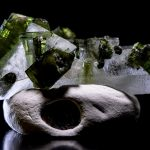 Gemmy Green Tourmalated Starbrary Double Terminated Quartz Crystal