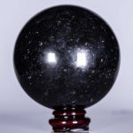 Solid All Black Tourmaline Sphere