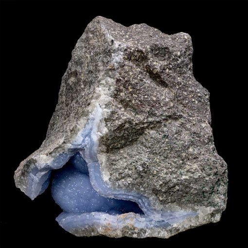 Natural Crystallized Blue Lace Agate Geode - Video Below!